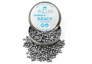 Пульки к пневматике 5.5 мм JSB Diabolo Exact Jumbo Express (.22), вес 0,930г, банка 500 шт