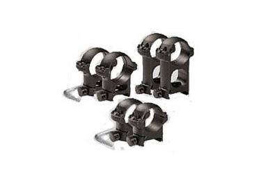 Кольца 30 мм на Weaver высота 27 мм ЭСТ средние, сталь (черный)