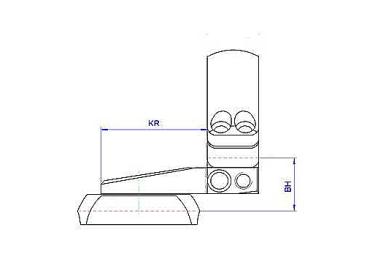 Кронштейн MAK на раздельных основаниях, с кольцами 30мм, на Steyr Classic SBS, 1022-30089