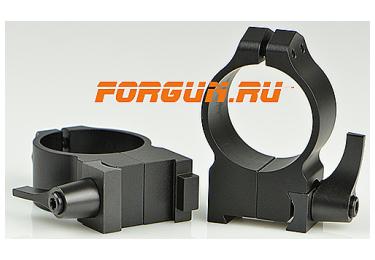 Кольца 30 мм для CZ 550 высота 13 мм Warne Quick Detach High, 15BLM, сталь (черный)