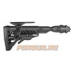 Приклад для АК складной (вместо складных), телескопический, компенсатор отдачи, щека, FAB Defense, FD-M4-AKMIL P SB CP