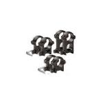 Кольца 25,4 мм на Weaver высота 20 мм ЭСТ низкие, сталь (черный)