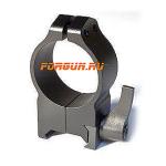 Кольца 30 мм на Weaver высота 13 мм Warne Maxima Quick Detach High, 215LM, сталь (черный)
