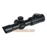Оптический прицел Leapers UTG 1-4.5X28 30 мм CQB, сетка Circle-Dot с цветной подсветкой, кольца на Picatinny/Weaver, SCP3-145IECDQ