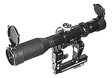 Оптический прицел Беломо ПОСП 4-8x42 ВД с подсветкой сетки, с диоптрийной отстройкой (для Вепрь/Сайга)