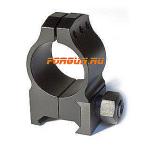 Кольца 25,4 мм на Weaver высота 11 мм Warne Tactical Medium Matte, 601M, сталь (черный)