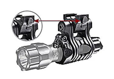 _Крепление для фонаря и ЛЦУ, на Weaver/Picatinny, диаметр 24,4-27 мм CAA tactical UFH3P