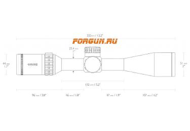 Оптический прицел Hawke Frontier 4-20x44 SF IR (Mil Pro 10x), с подсветкой, с боковой отстройкой параллакса, 18130