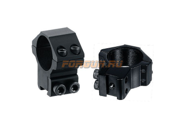 "Кольца Leapers UTG 30 мм для установки на ""Ласточкин хвост"", средние, не быстросъемные, RGPM-30M4"