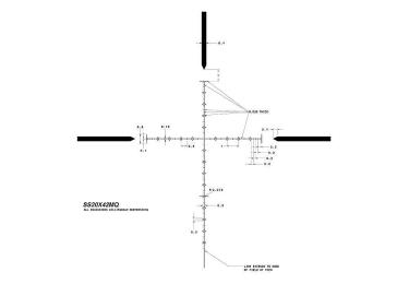 Оптический прицел SWFA SS MRAD 20x42 RF 30mm, сетка Mil-Quad SS20X42MQ