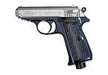"""Пневматический пистолет Walther PPK/S. Отделка """"никель"""" (Umarex)"""