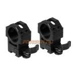 """Кольца Leapers UTG 25,4 мм для установки на """"Ласточкин хвост"""", высокие, быстросъемные, RQ2D1204"""