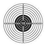"""Мишени """"Десятка"""" картонные для стрельбы 25 м."""