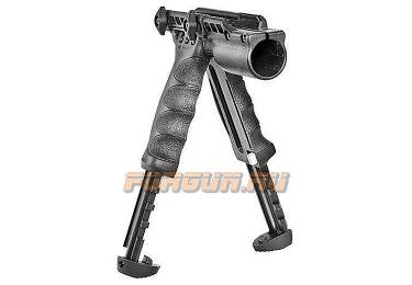 Рукоятка передняя на Weaver/Picatinny, сошки, с держателем фонаря 25.4 мм, регулируемая, складная, быстросъемная, пластик/алюминий, FAB Defense, FD-T-POD G2 FA