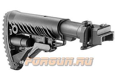 Приклад для АКМ складной (вместо нескладных), телескопический, FAB Defense, FD-M4-AK
