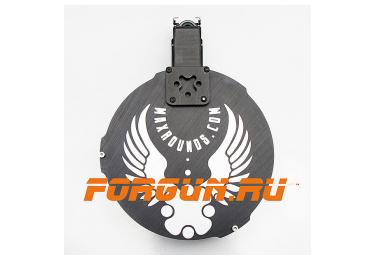 Магазин 12х76 барабанного типа псевдо 20 мест для Вепрь ВПО 205 12к с ограничителем на 7 патронов Maxrounds PowerMag