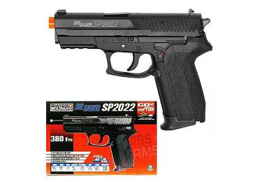 Пневматический пистолет Cybergun Sig Sauer 2022, пластик, черный, 130 м/с, 288000