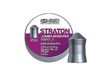 Пульки к пневматике 5.5 мм JSB Diabolo Exact Jumbo Monster Straton (.22), вес 1,645г, банка 200 шт