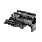 Рукоятка передняя на Weaver/Picatinny, с держателем фонаря 25.4 мм, складная, быстросьемная, пластик, FAB Defense, FD-FFGS-1