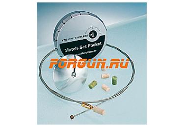 Набор для чистки оружия 4,5 мм (гибкий трос-шомпол с ограничителем, адаптер, тампончики) VFG Match-Set