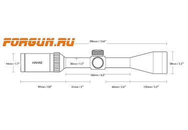 Оптический прицел Hawke Endurance 30 SF 6-24x50, 30 мм, c подсветкой, отстройка параллакса, LR Dot, 16260