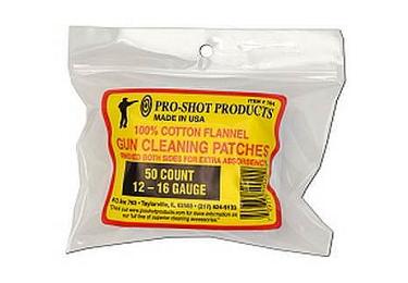 Патчи хлопковые 12-16 кал., 50 шт, Pro-Shot 104