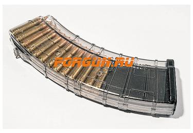 Магазин 7,62x39 мм (.30, .366 ТКМ) на 30 патронов для АК, АКМ, Вепря или Сайги, пластик, Pufgun, Mag SGA762 40-30/Tr