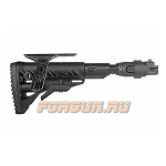 Приклад для АКМ складной (вместо нескладных), телескопический, компенсатор отдачи, щека, FAB Defense, FD-M4-AK P SB CP