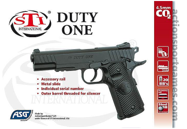 Пневматический пистолет ASG STI Duty One, 16730