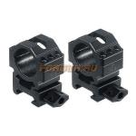 Кольца Leapers UTG 25,4 мм для установки на Weaver/Picatinny, средние, быстросъемные, ширина 25 мм, RG2W1156
