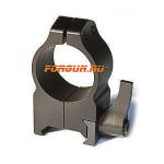 Кольца 25,4 мм на Weaver высота 13 мм Warne Maxima Quick Detach High, 202LM, сталь (черный)