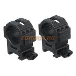 Кольца Leapers UTG 30 мм для установки на Weaver/Picatinny, средние, быстросъемные, ширина 25 мм, RG2W3156