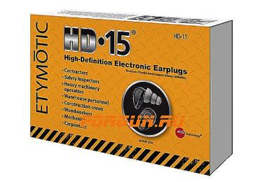 Беруши, ушные вкладыши, активные Etymotic HD-15