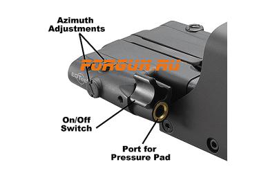 Коллиматорный голографический прицел с лазерным целеуказателем EOTech 552.XR308 Laser Battery Cap 2