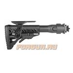 Приклад для АК складной (вместо складных), телескопический, щека, FAB Defense, FD-M4-AKMIL P CP