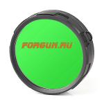 _Светофильтр диффузор зеленый для фонарей Olight M20SX-L2 Warrior, M20S-G2 FM20-G