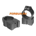 Кольца 25,4 мм для Tikka высота 14 мм Warne Fixed High, 2TM, сталь (черный)