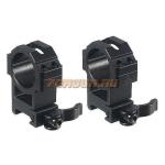 Кольца Leapers UTG 30 мм для установки на Weaver/Picatinny, высокие, быстросъемные, ширина 22 мм, RQ2W3224