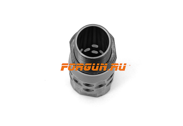 Дульная насадка (0,0) цилиндр 90 мм с резьбой под ДТК для ВПО-205 Вепрь, Сайга 12 кал РЫСЬ ДУДКА-12P