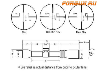 Оптический прицел Burris Timberline 3-9x32 Ballistic Plex (201334)