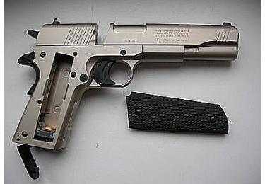 """Пневматический пистолет Colt Government 1911. Отделка """"никель"""" (Umarex)"""