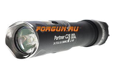 Фонарь тактический, 1120 люменов Armytek Partner C2 Pro v3 XP-L, теплый свет, черный