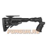 Приклад для Mossberg 500, телескопический, рукоятка, пластик, компенсатор отдачи, складной, щека, FAB Defense, FD-AGMF 500 FKSB CP