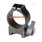 Кольца 30 мм на Weaver высота 9 мм Warne Maxima Quick Detach Medium, 214LM, сталь (черный)