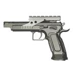 Пневматический пистолет Cybergun Tanfoglio Gold Custom CO2, Blowback, 4.5mm, 91 м/с, 358004