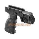 Рукоятка передняя на Weaver/Picatinny, с держателем фонаря 25.4 мм, пластик, FAB Defense, FD-T-GRIP-R
