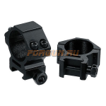 Кольца Leapers UTG 30 мм для установки на Weaver/Picatinny, низкие, ширина 21 мм, RGWM-30L4