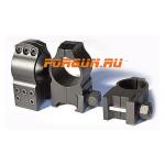 Кольца 25,4 мм на Weaver высота 16 мм Warne Tactical Extra High Matte, 603M, сталь (черный)