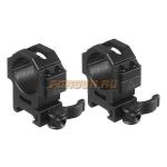 Кольца Leapers UTG 30 мм для установки на Weaver/Picatinny, средние, быстросъемные, ширина 22 мм, RQ2W3154