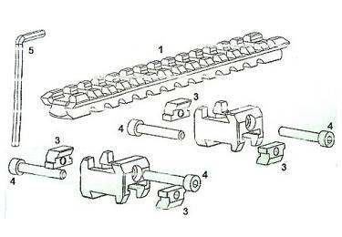 Кронштейн база-U с планкой Weaver Combat